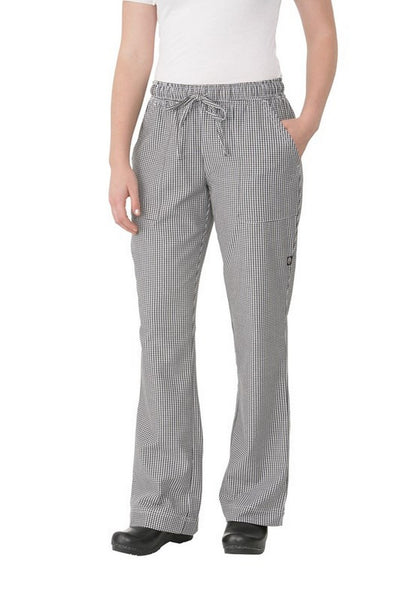 Women's Small Check Chef Pants