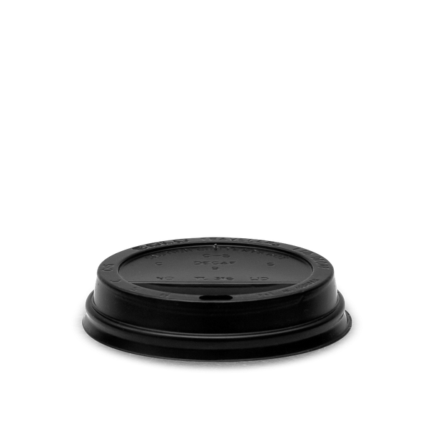 4 oz Plastic Hot & Cold Lid Black (SLEEVE)