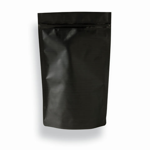 250 g Black Matt Coffee Pouch (Zip Lock)