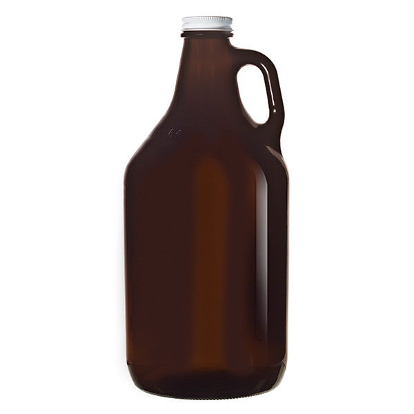 Amber Growler with Lid (1893 mL)