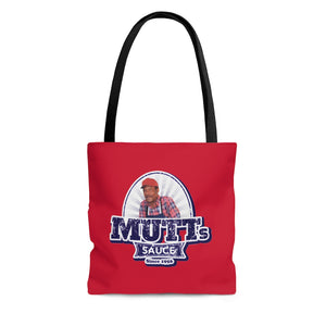 MUTT'S SAUCE Small Red AOP Tote Bag