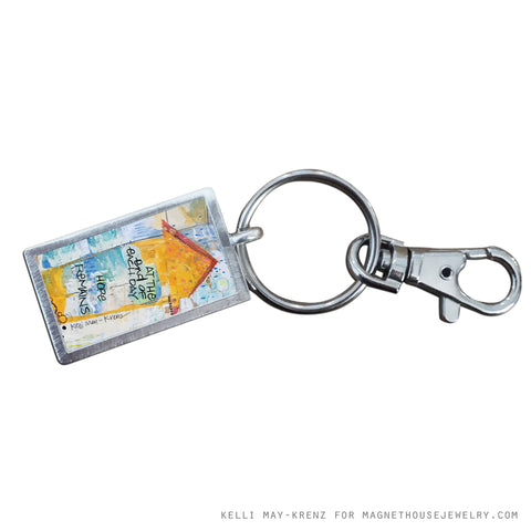Rectangle Key Ring