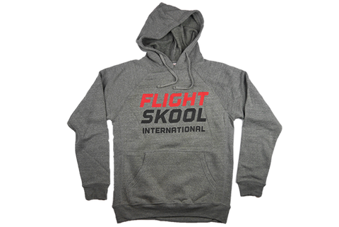 Gray Raglan International Hoodie