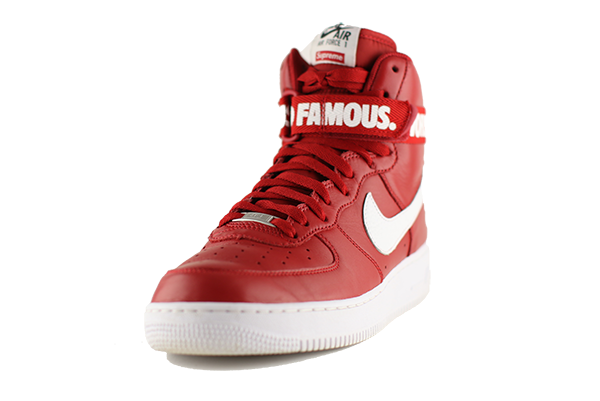 Nike Air Force One High Quot Red Supreme Quot Flightskool Shoes