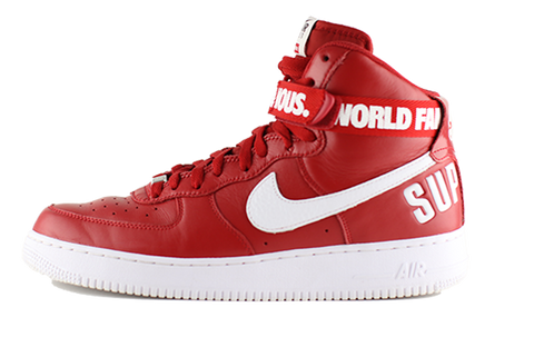 "Nike Air Force One High ""Red Supreme"""