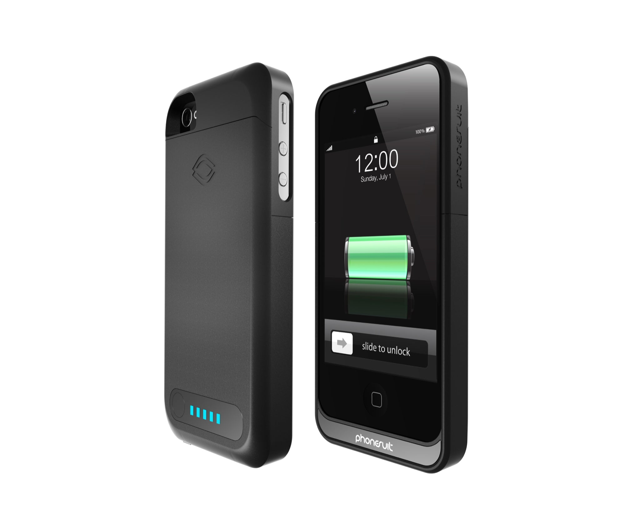Iphone 4 4s Battery Case The Phonesuit Elite Baterai Ipod Touch 5 Charge Se 5s And Sync W Itunes All At Same Time Pass Through Charging Allows To Both Simultaneously