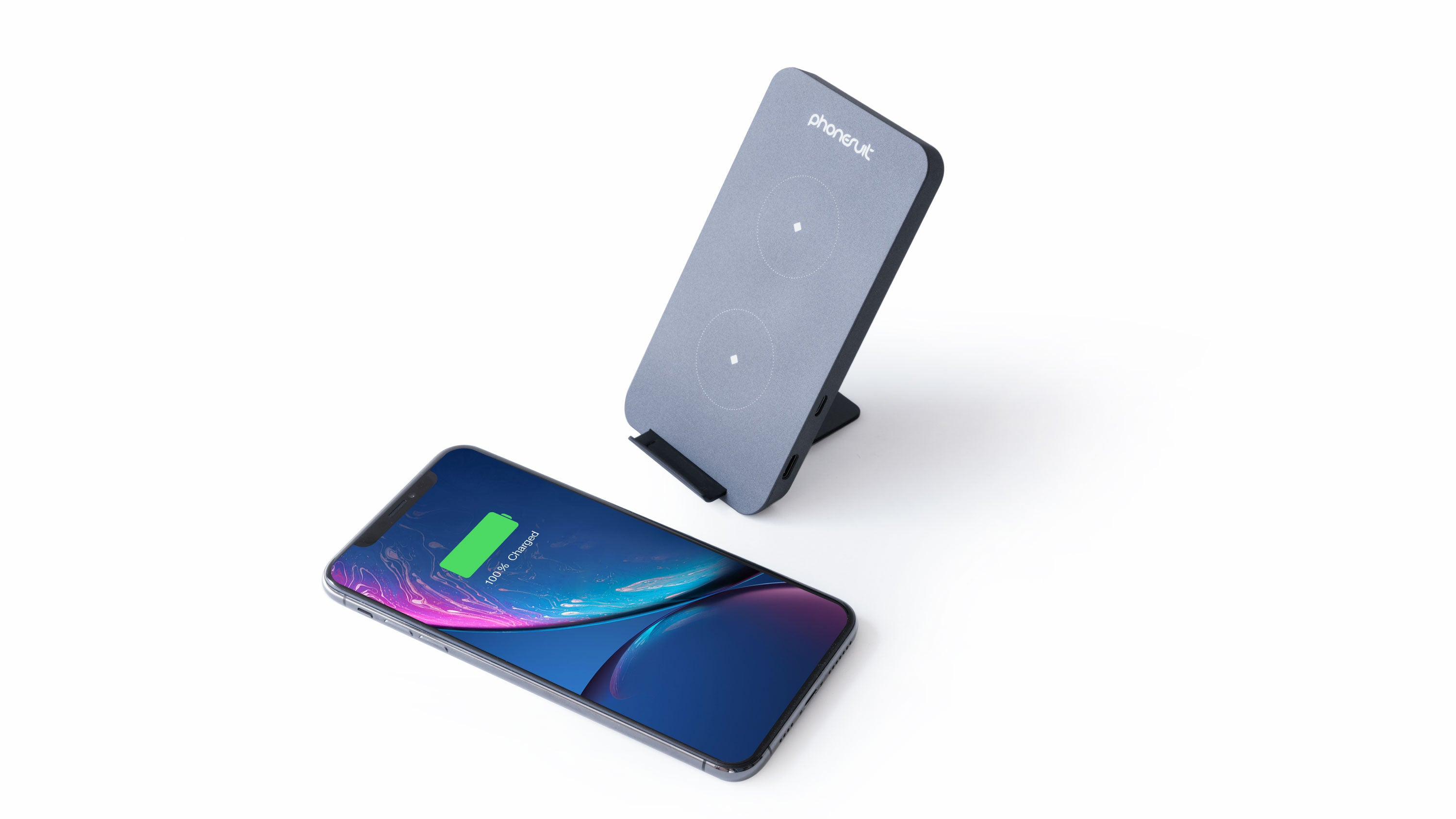 Energy Core Wireless Charger Stand & Pad 2-in-1 for iPhone, Samsung & More