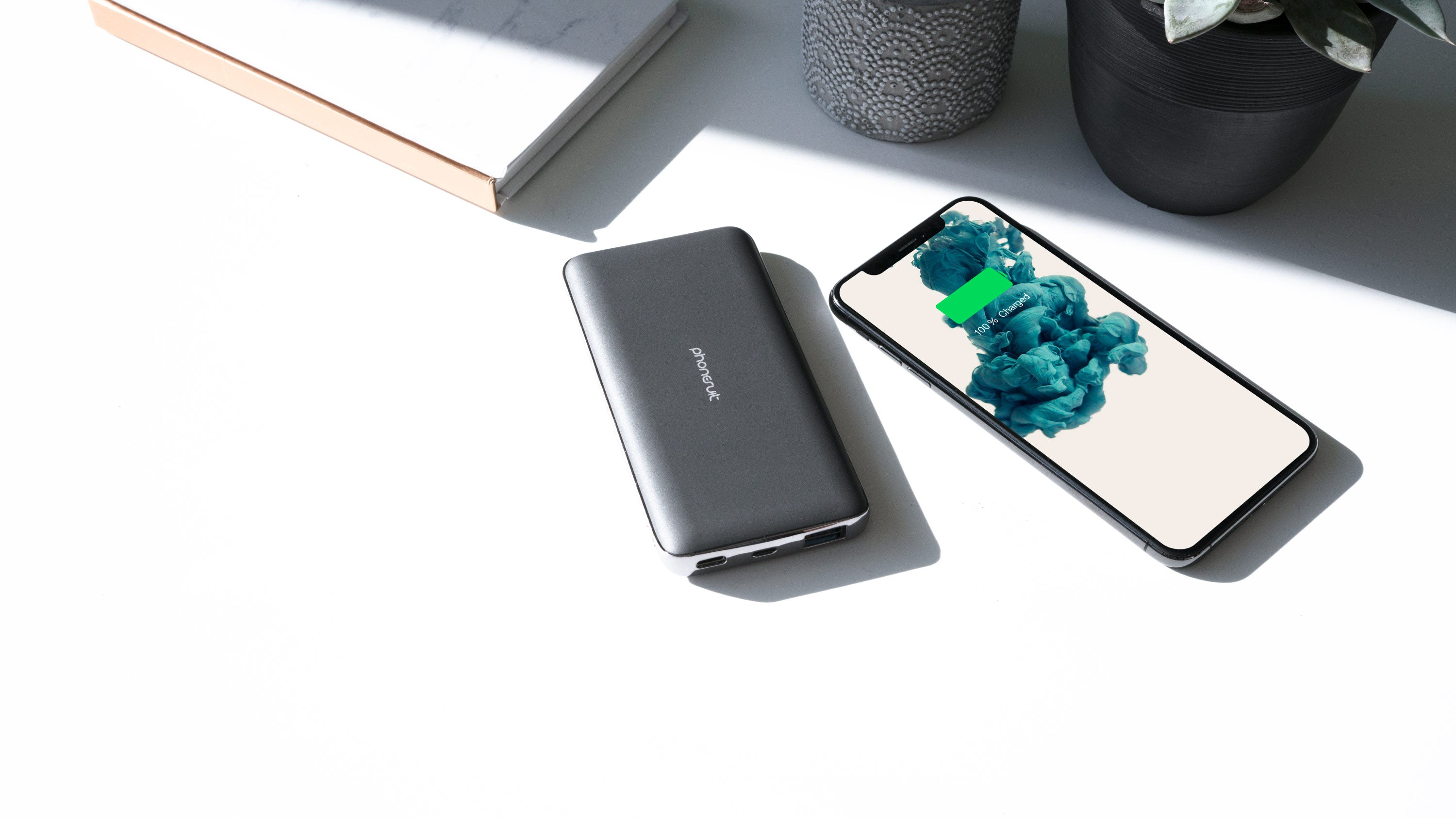 Energy Core PD & QC Fast Charging Battery Pack for iPhone, Samsung & More