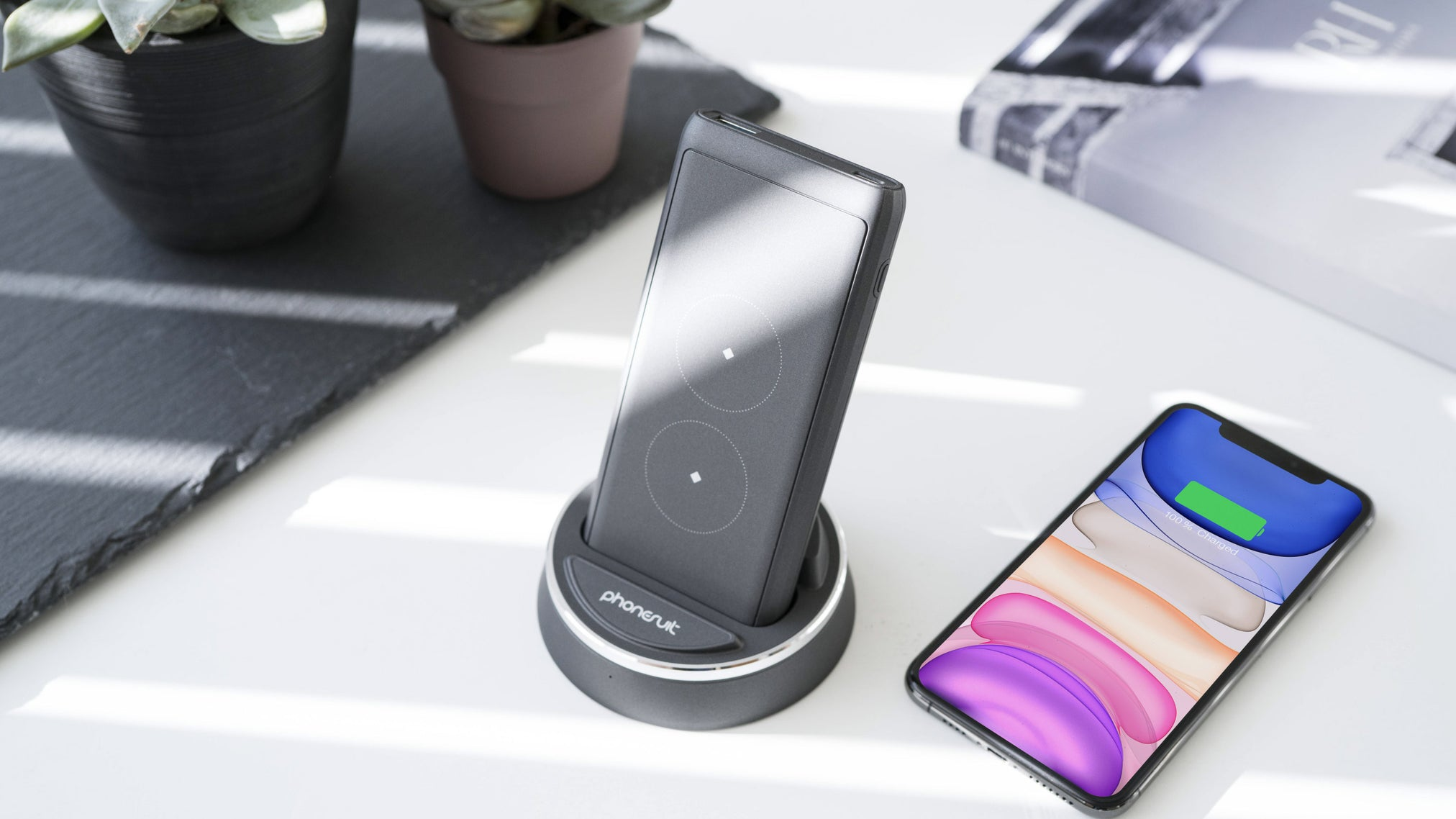 Energy Core Wireless Battery Pack & Dock for iPhone, Samsung & More