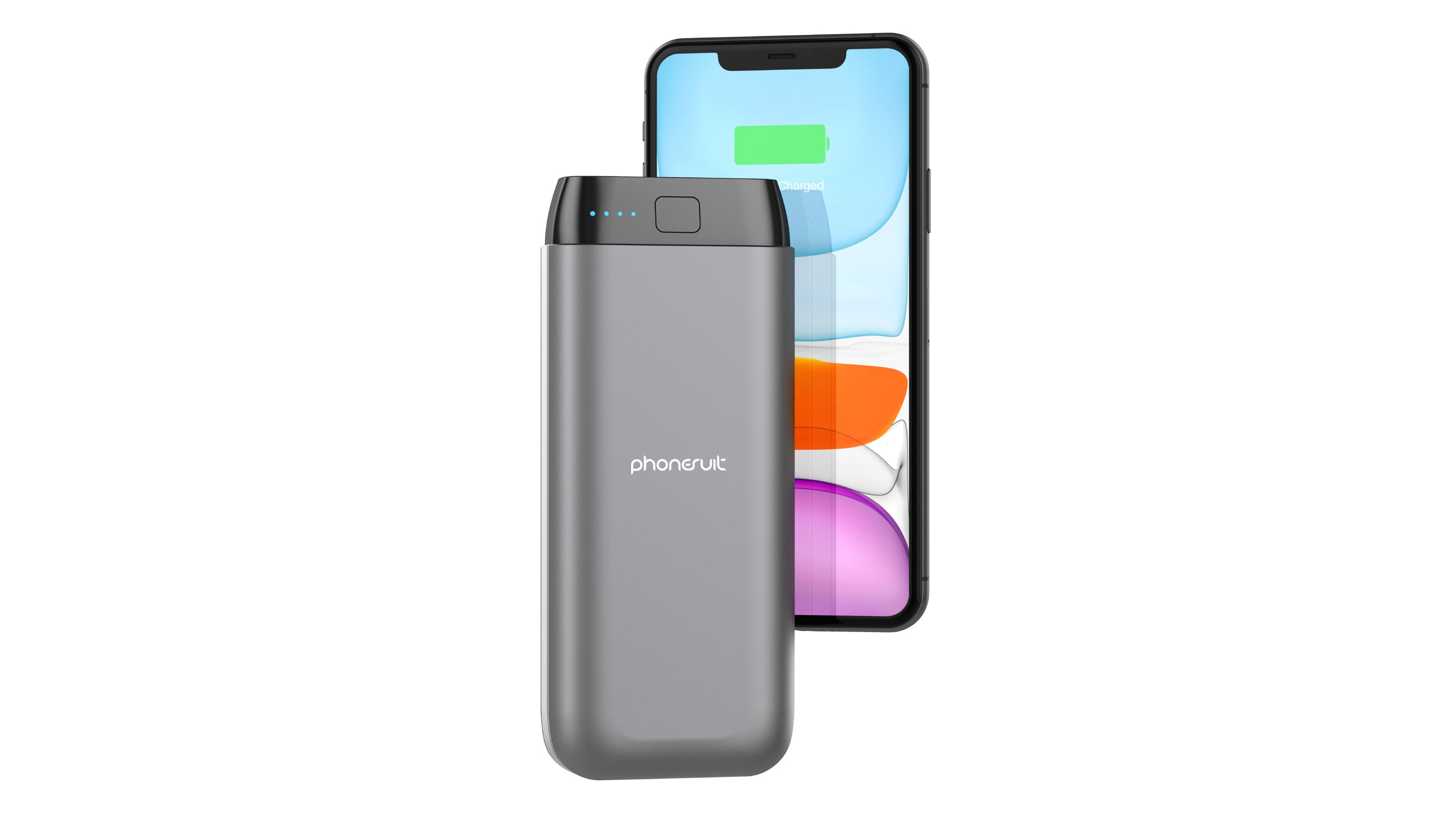 PhoneSuit Power Bank 20,000mAh for iPhone, Samsung