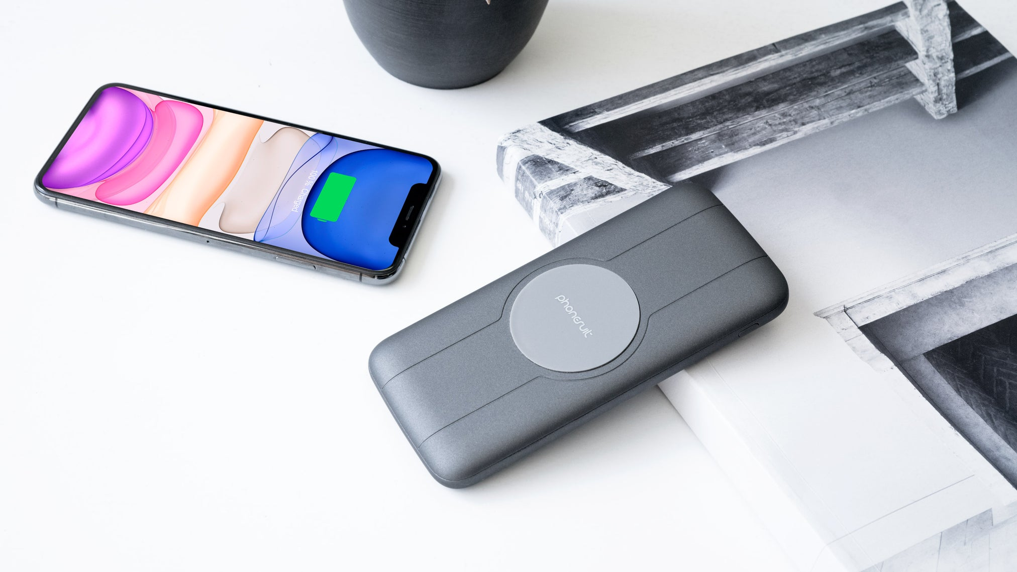 Energy Core All-In-One Wireless Portable Charger & Battery Pack for iPhone, AirPods, Samsung & More