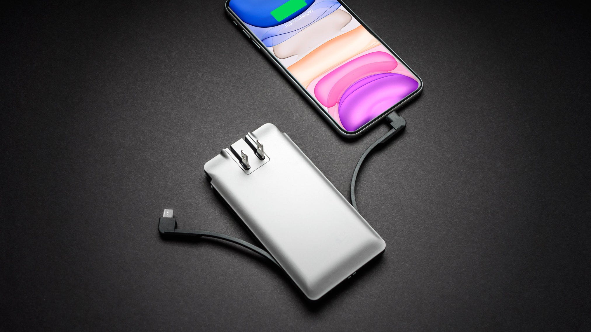 Journey Charger | Portable-Power Bank, Cables & Wall Plug | for Apple iPhone & Smartphones