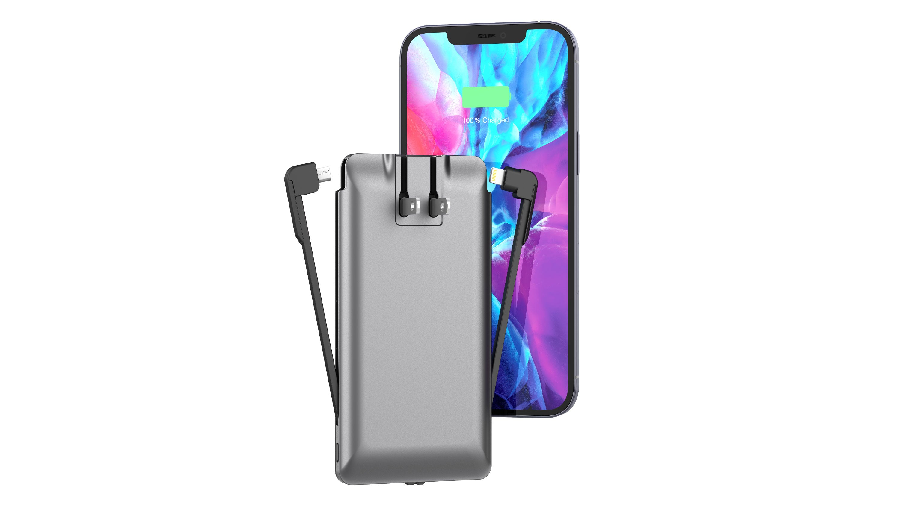Journey Charger | Portable Power Bank, Cables & Wall Plug | for iPhone & Smartphones