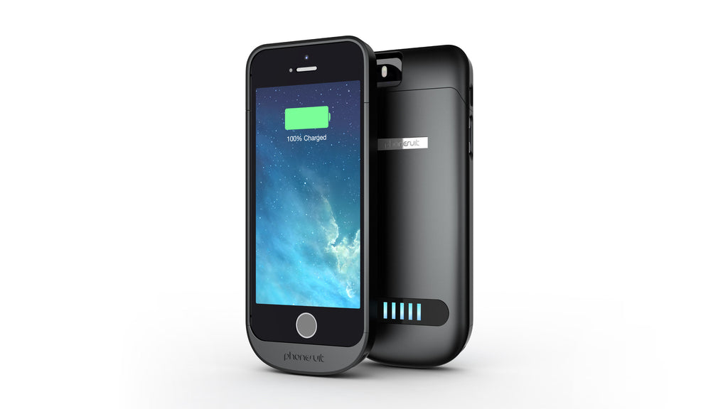 PhoneSuit Elite 4 Battery Case in metallic black