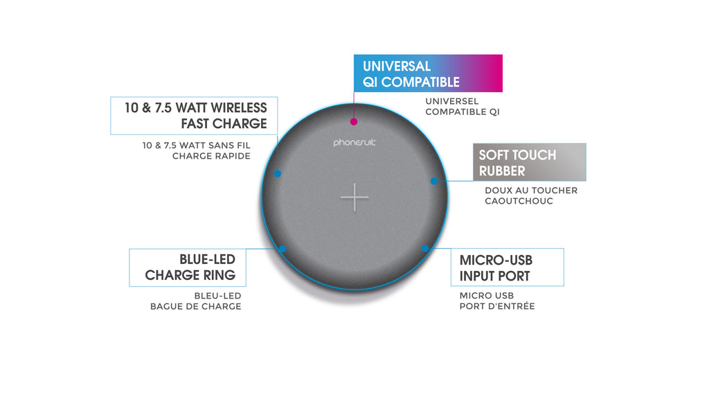 Energy Core Wireless Charge Pad LT for iPhone, Samsung, & More