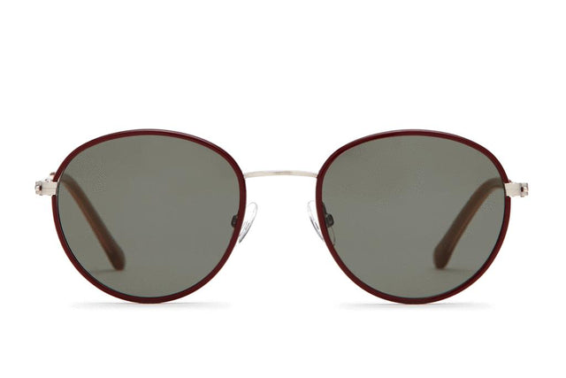 Walsh | Brushed Silver and Burgundy Sun