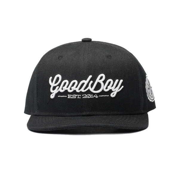 Black Leather Strapback