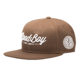 Brown Leather Strapback