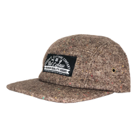 Brown Wool Tweed 5 panel