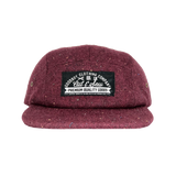 Burgundy Tweed 5 Panel