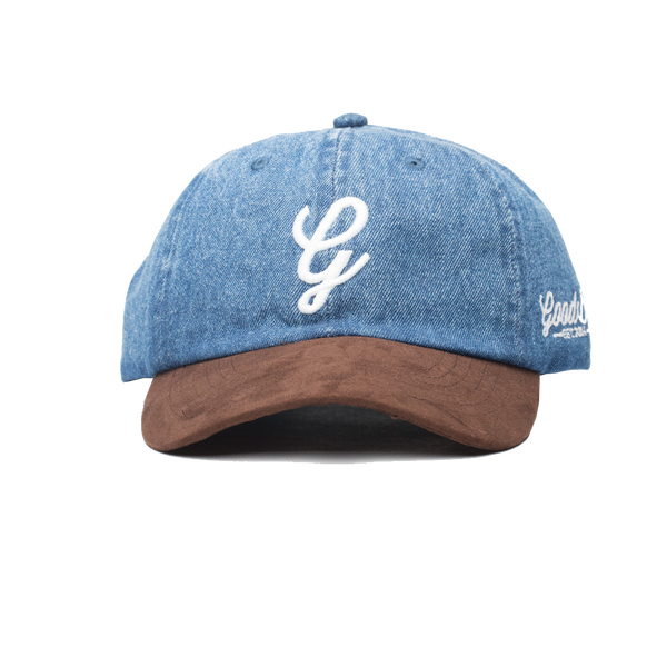 Denim & Suede Dad Hat-Dark