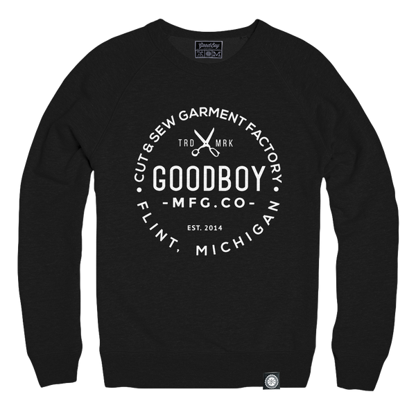 Crew Neck - Sweatshirt - Black