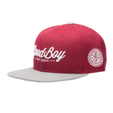 Maroon Leather Strapback