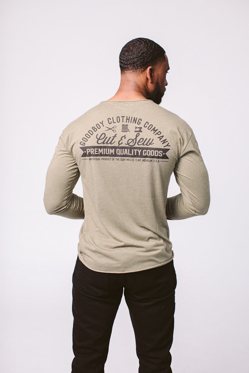 GDBY Long Sleeve - Olive Green