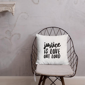 Load image into Gallery viewer, Justice Is Love Out Loud & Micah Six Eight | Pillow