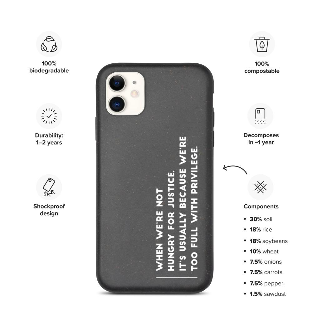 """Hungry For Justice"" Biodegradable Phone Case For iPhone"