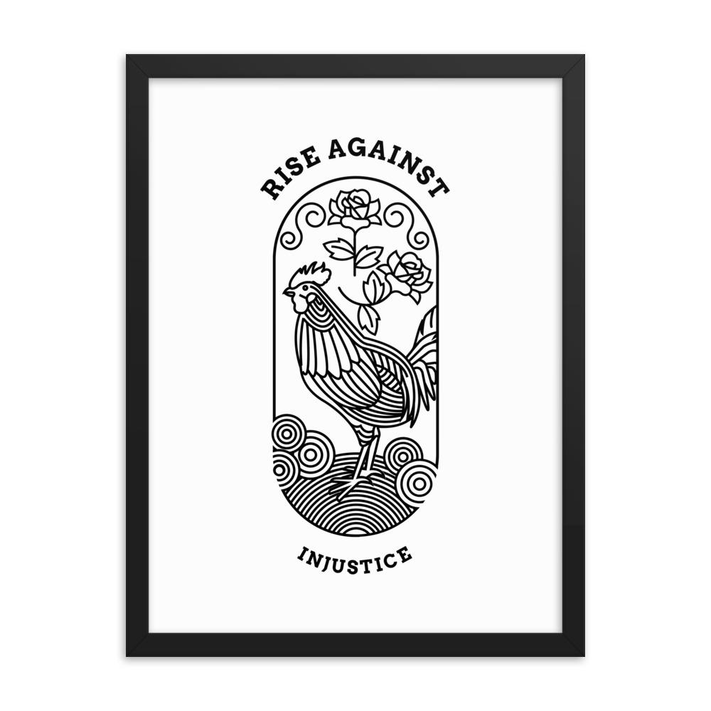 Load image into Gallery viewer, Rise Against Injustice | Framed Poster