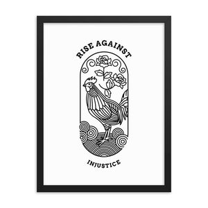 Rise Against Injustice | Framed Poster