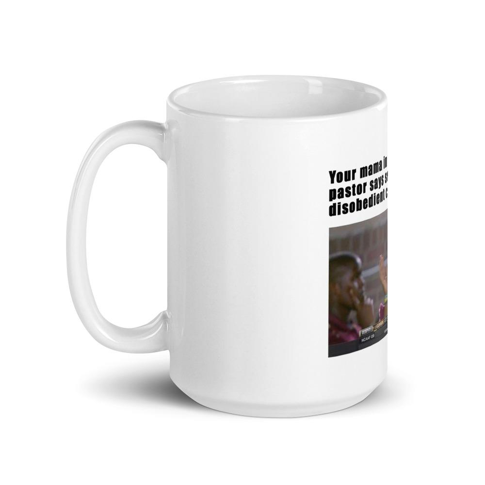 Your Mama In Church | Meme Mug