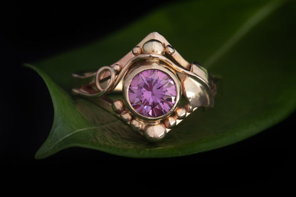 Pink Moissanite Ring