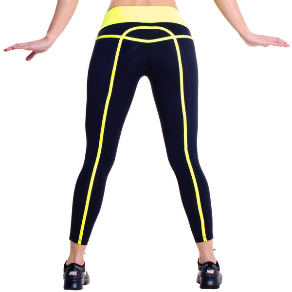 Drop Of Mindfulness Bow Tights Mallas Amarillo Neon Detalles