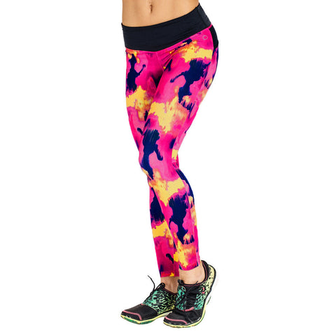 Drop of Mindfulness Bow II Print Fitness Legging Multicolor Black Mallas de fitness y Yoga Estampado