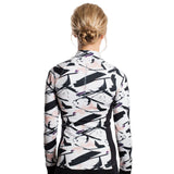 Drop of Mindfulness Canal St Pullover Long Sleeve Workout Top Paint Print Camiseta de Entrenamiento Manga Larga Estampado Blanco Negro Running