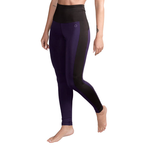 Mallas Deportivas Cintura Alta Morado Negro Drop of Mindfulness Emma High Waist Leggings