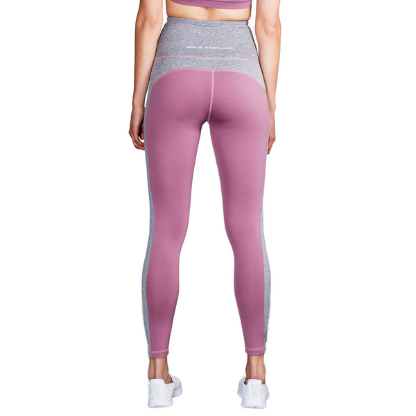 Drop of Mindfulness Emma Legging Dusty Purple Grey Melange High Waist Mallas Cintura Alta Morado Gris Yoga Fitness