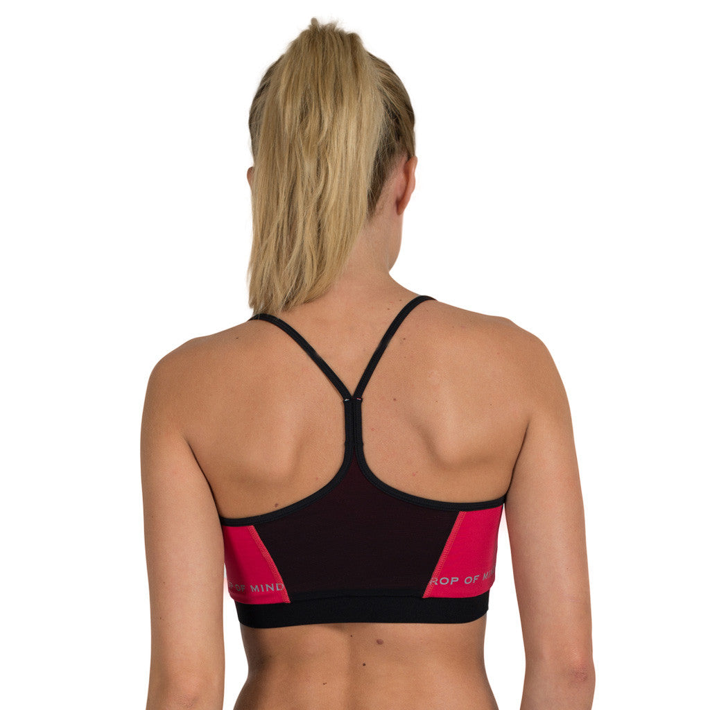 Drop of Mindfulness Freja Lightfit Sports Bra Pink Black Sujetador Deportivo Yoga Rosa Negro