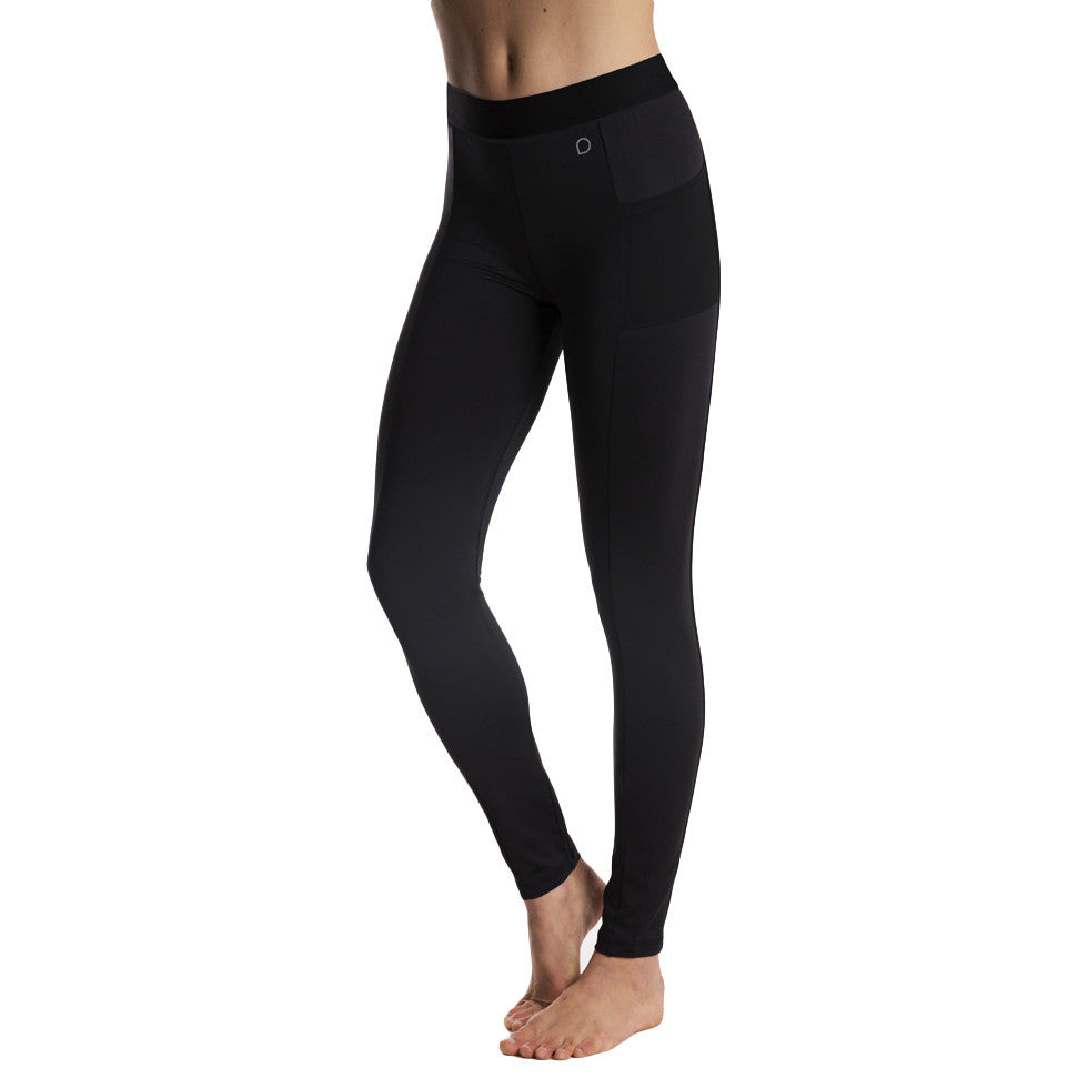Drop of Mindfulness Grand St Fitness Leggings Black Rose gold zipper double pockets Mallas deportivas negras mujer