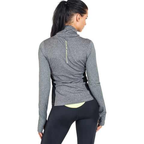 Drop of Mindfulness Icy Pullover Grey Camiseta Deportiva Manga Larga Gris Orion Leggings Mallas Negras Amarillo