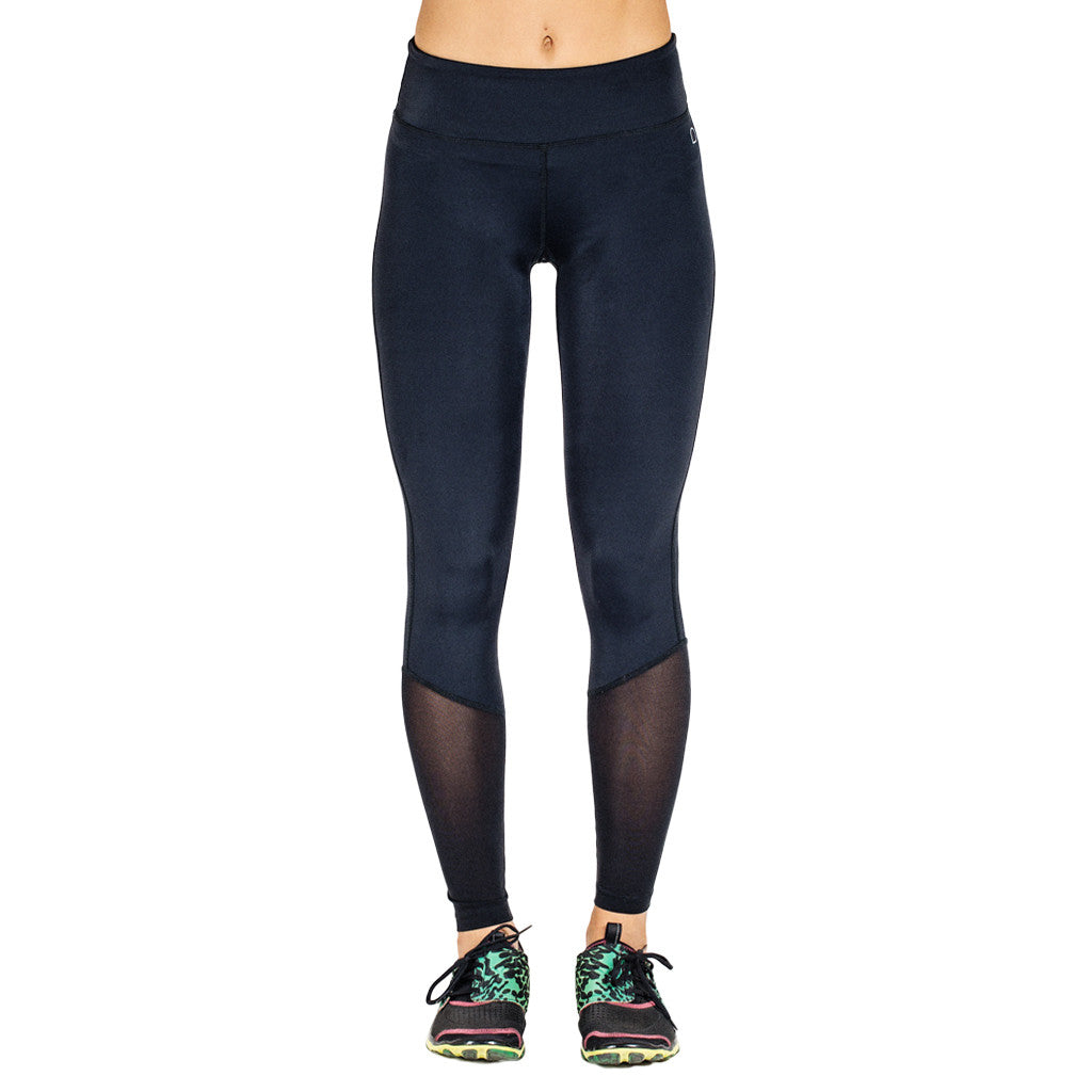 Drop of Mindfulness Orion Fitness Legging Black Yellow Mesh Legs Mallas Negras Amarillo