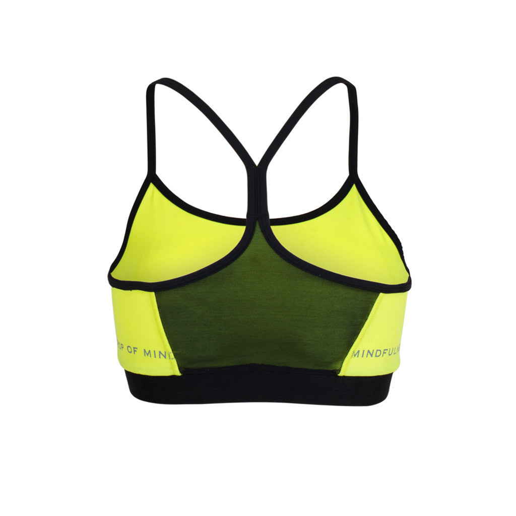 Drop Of Mindfulness Freja Bra Yellow Sujetador Amarillo Back