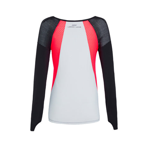 Lorna Jane Sporty Splice Long Sleeve Mangas Largas Camiseta Back