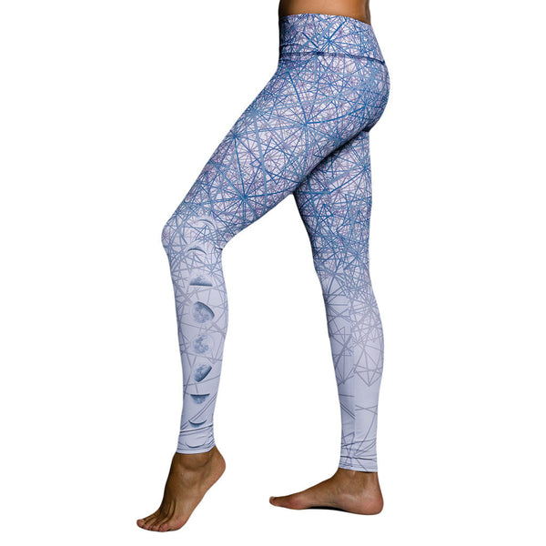 Onzie Graphic Legging Luna Mallas de yoga estampado azul Yoga Pants
