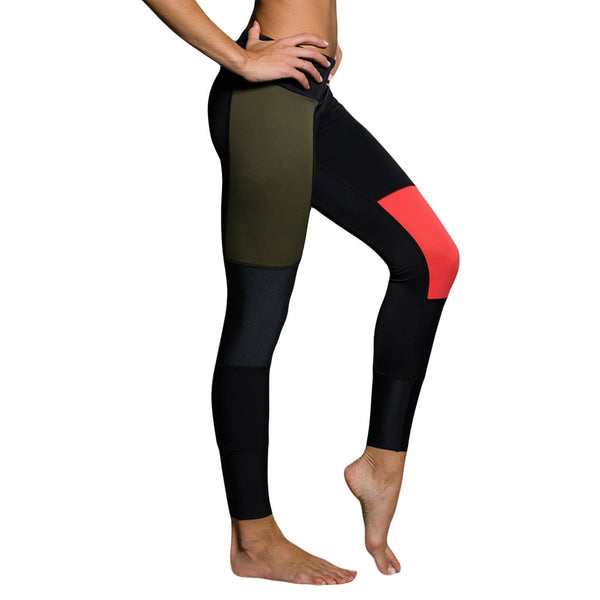 Onzie Peace Pant Olive Mallas de yoga color block