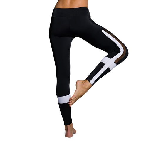 Onzie Power Legging Black White Mesh Mallas De Yoga Negro Blanco Transparencias