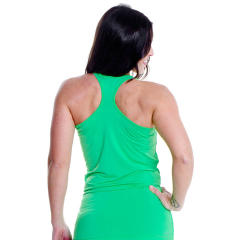 Rohnisch Long Racerback Palm Green Workout Tank Camiseta Deportiva Larga Verde