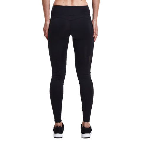 Röhnisch Shape Ditte Long Tights Black With Mesh Inserts Mallas Deportivas Con Transparencias Mallas de Compresión